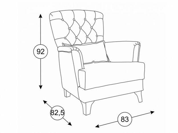 Кресло для отдыха Ирис арт. ТД-962 малахитовый
