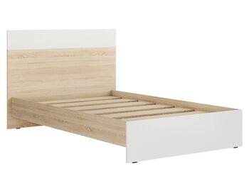 Кровать 1200 Лайт Кр-44 Дуб Сонома-Белый