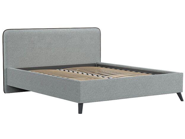 Кровать двуспальная Миа серый