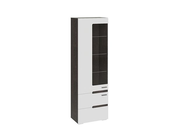Шкаф для посудыФьюжн Белый глянец-Венге Линум ТД-260.07.25 ШхВхГ 590х1842х357 мм