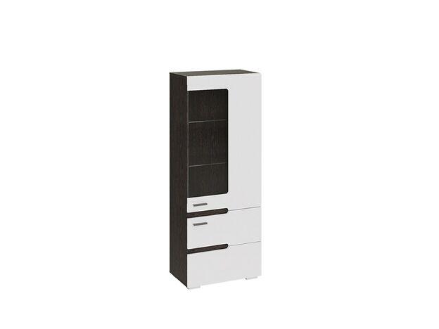 Шкаф для посуды Фьюжн Белый глянец-Венге Линум ТД-260.07.27 ШхВхГ 590х1512х357 мм