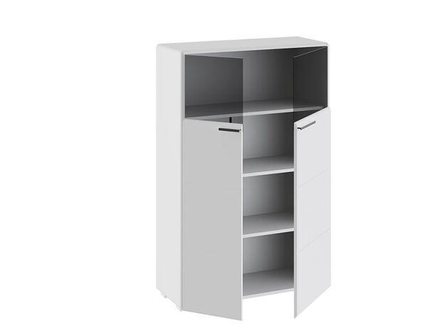 Шкаф комбинированный с 2 дверями Наоми Белый глянец ТД-208.07.29 ШхВхГ 866х1322х340 мм