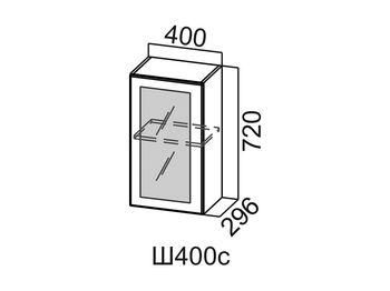 Шкаф навесной со стеклом Ш400с Модус СВ 400х720х296
