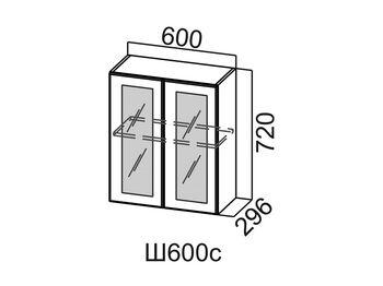 Шкаф навесной со стеклом Ш600с Модус СВ 600х720х296