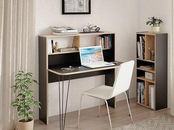 Стол компьютерный 12.67 Базис 3 Черный-Дуб сонома