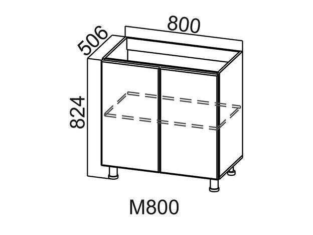 Стол-рабочий под мойку М800 Модус СВ 800х824х506