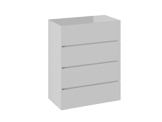 Комод Glance тип 1 Белый-Стекло белый глянец