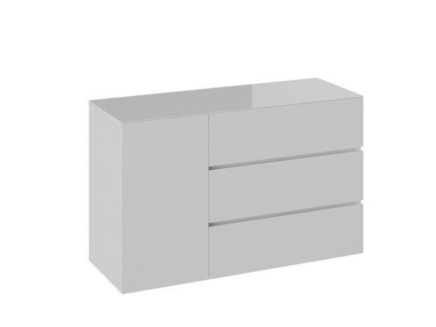 Комод Glance тип 2 Белый-Стекло белый глянец