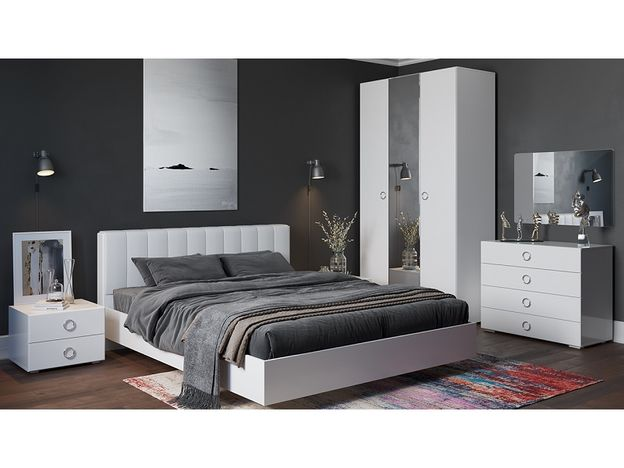 Спальня Глория Белый глянец