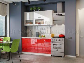 Кухня Волна 1,6 Красная