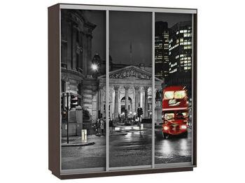 Шкаф-купе 3-х дверный Трио Фото Ночной Лондон