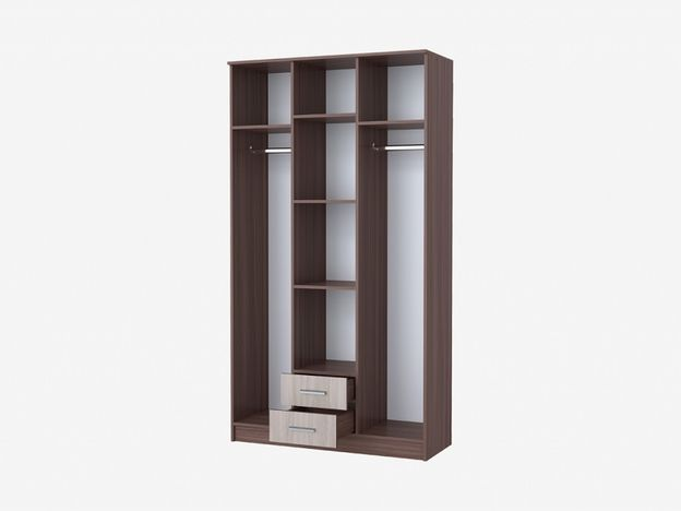 Шкаф Трио 3х-створчатый с 2 ящиками София ясень шимо темный-ясень шимо светлый