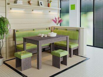 Кухонный уголок Остин венге цаво-кожзам фисташковый